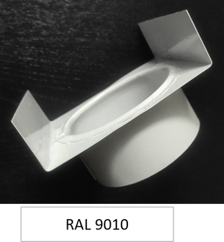Picture of Outlet gutter RAL 9010 Ø 80