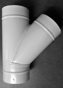 Imagem de Forquilha 45º lacado branco Ø 150mm